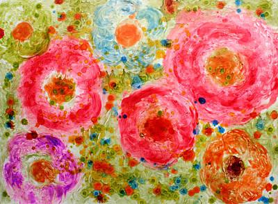 Abstract Flowers Art Print by Alma Yamazaki