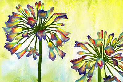 Painting - Abstract Flowers by Diane Ferron