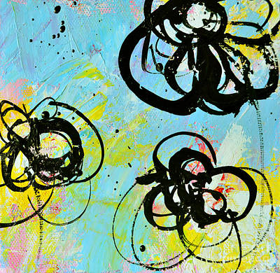 Painting - Abstract Flowers Silhouette 4 by Patricia Awapara