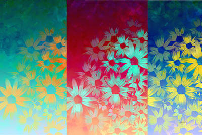 abstract  - flowers- Summer Joy Print by Ann Powell