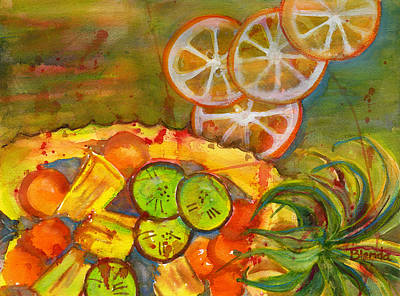 Food And Beverage Royalty-Free and Rights-Managed Images - Abstract Food Kitchen Art by Blenda Studio
