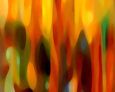 Painting - Abstract Forest by Amy Vangsgard
