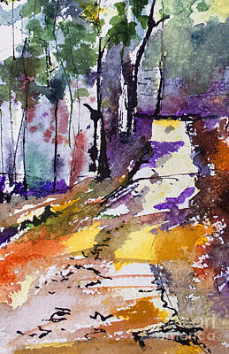 Abstract Forest Path #2 Art Print