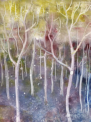 Abstract Forest Art Print by Suzette Broad