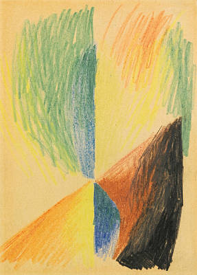 Abstract Forms Drawing - Abstract Forms Xiv by August Macke