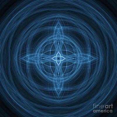 Fractal Geometry Digital Art - Abstract Fractal Background 07 by Antony McAulay