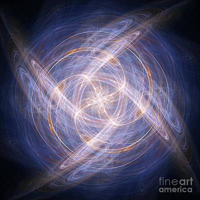 Fractal Geometry Digital Art - Abstract Fractal Background 17 by Antony McAulay