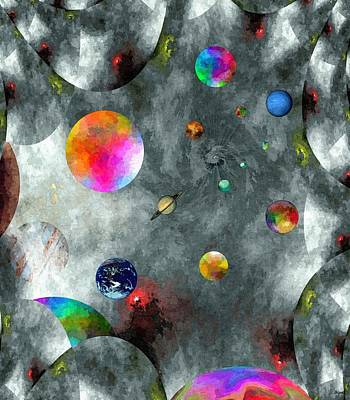 Indefinite Digital Art - Abstract Fractillious-episode Two-creations Explosion by Glenn McCarthy Art and Photography