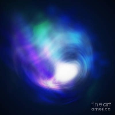 Milky Digital Art - Abstract Galaxy by Atiketta Sangasaeng