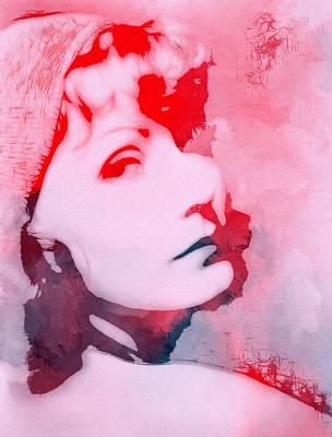 Greta Garbo Painting - Abstract Garbo by Steve K
