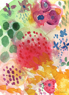 Card Painting - Abstract Garden #43 by Linda Woods