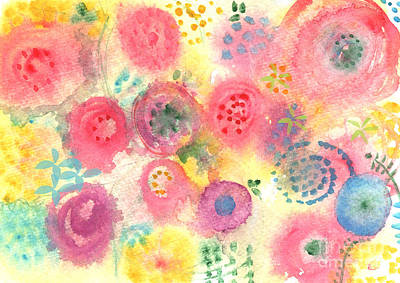 Baby Shower Painting - Abstract Garden #45 by Linda Woods