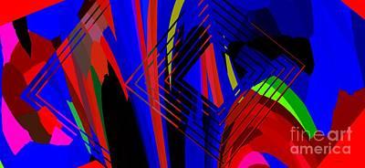 Abstract Geometric Art Art Print by Mario Perez
