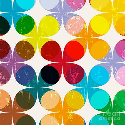 Bright Wall Art - Digital Art - Abstract Geometric Pattern Background by Kirsten Hinte