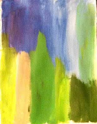 Blue Painting - aBsTrAcT by Ginger Price