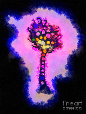 Fantasy Royalty-Free and Rights-Managed Images - Abstract glowball tree by Pixel Chimp