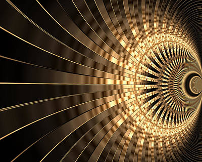 Digital Art - Abstract Gold Series 1 by Carlos Diaz