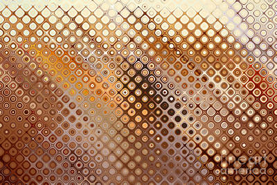 Digital Art - Abstract Gold Circles by Nicholas Burningham