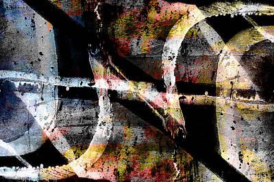 Digital Art - Abstract Graffiti 8 by Steve Ball