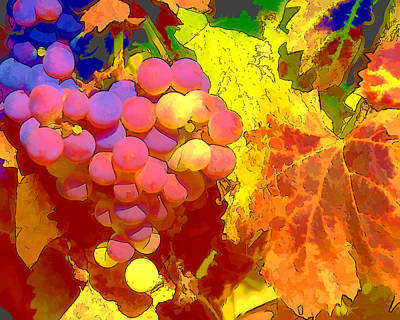 Abstract Grapes Original by Cathy Threadgill