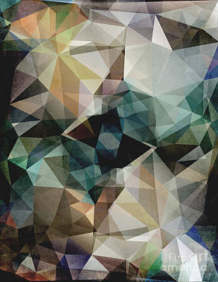 Abstract Digital Art - Abstract Grunge Triangles by Phil Perkins