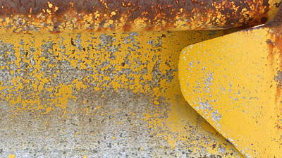 Photograph - Abstract Guard Rail 2 by Anita Burgermeister