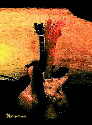 Photograph - Abstract Guitars by Sadie Reneau