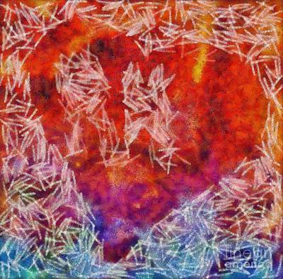 Abstract Hearts Photograph - Abstract Hearts 18 by Edward Fielding