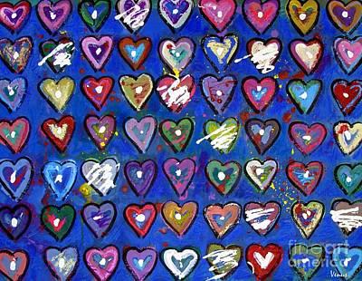Avant Garde Mixed Media - Abstract Hearts by Venus