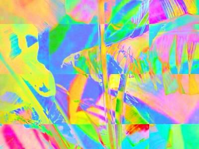 Digital Art - Bright Abstracted Banana Leaf - Horizontal by Lyn Voytershark