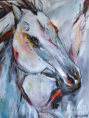 Painting - Abstract Horse 091214 by Cher Devereaux