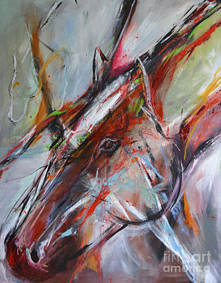 Painting - Abstract Horse 3 by Cher Devereaux