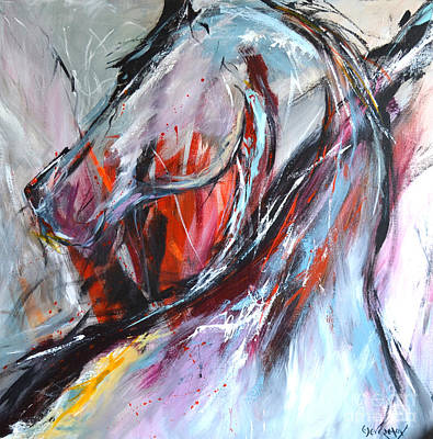 Painting - Abstract Horse 4 by Cher Devereaux
