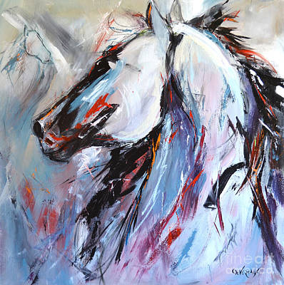 Painting - Abstract Horse 5 by Cher Devereaux