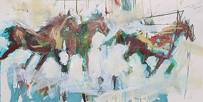 Painting - Abstract Horse Print by Robert Joyner