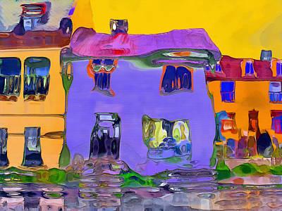 Abstract Houses Art Print by Nina Bradica