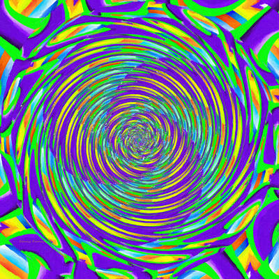 Abstract Hypnotic Art Print by Kenny Francis