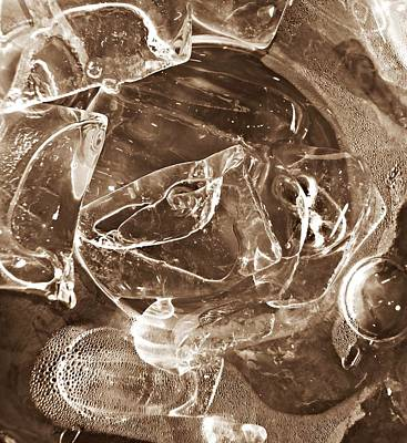 Photograph - Abstract Ice 35 by Sarah Loft