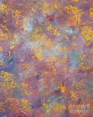 Art Print featuring the painting Abstract Impressions by Donna Dixon