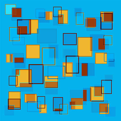 Rectangles Painting - Abstract In Beach Color Scheme by Frank Tschakert