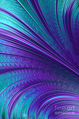 Artistic Digital Art - Abstract In Blue And Purple by John Edwards