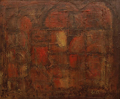 Arch Shapes Painting - Abstract In Brown  by Oscar Penalber
