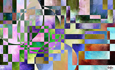 Art Print featuring the painting Abstract In Lavender by Curtiss Shaffer