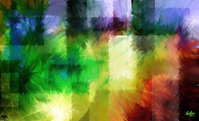 Art Print featuring the painting Abstract In Primary by Curtiss Shaffer