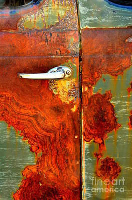 Abstract In Rust 24 Art Print