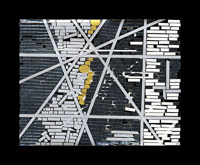 Abstract In Tape And Letterforms 5 Art Print by Agustin Goba