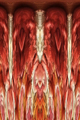 Dripping Digital Art - Abstract  Inner Cave by Linda Phelps