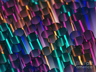 Invert Color Photograph - Abstract Inverted Straws by Patrick Dinneen