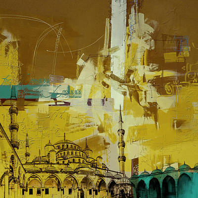 Istanbul Painting - Abstract Islamic Art by Corporate Art Task Force