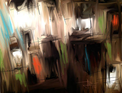 Digital Art - Abstract June 7 2014 by Jim Vance
